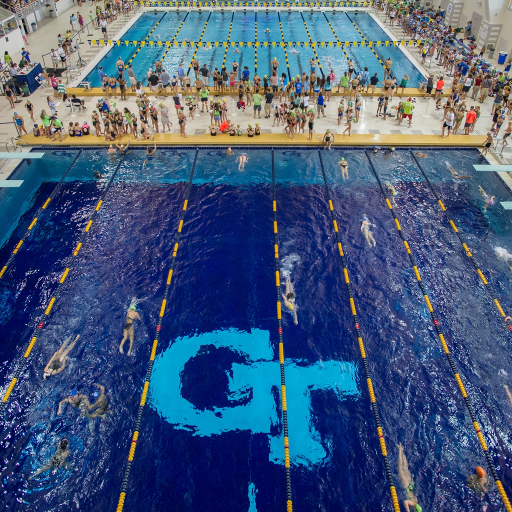 GT pool during a swimming event